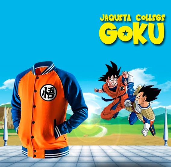 Jaqueta College Goku - Dragon Ball Z