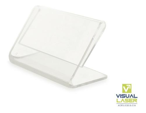Display Porta Preço Kit 10 Cristal 6x3cm Balcão Mesa Buffet Padaria Vitrine