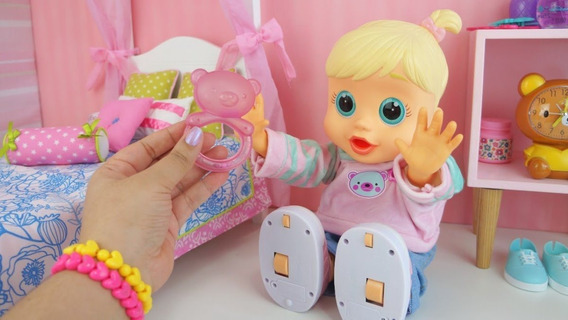 Boneca Baby Wow Malu Engatinha Levanta E Fala - Multikids