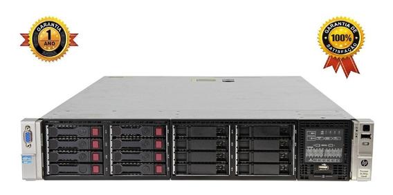 Servidor Hp Proliant Dl380p G8, 1 Intel Xeon Octacore, 16gb Ram, 2 Hd Sas 300gb, 4 Rj45 Giga, Garantia De Hardware 1 Ano