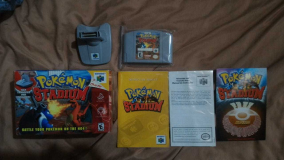 Transfer Pack 64 Completo + Jogo Pokémon Stadium Original