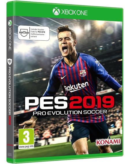 Jogo Pes 2019 Xbox One Mídia Física Cd Original Novo Futebol