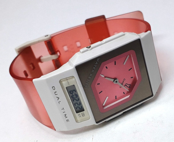Casio Dual Time Fs-01 Feminino Coleção Raridade Década De 90