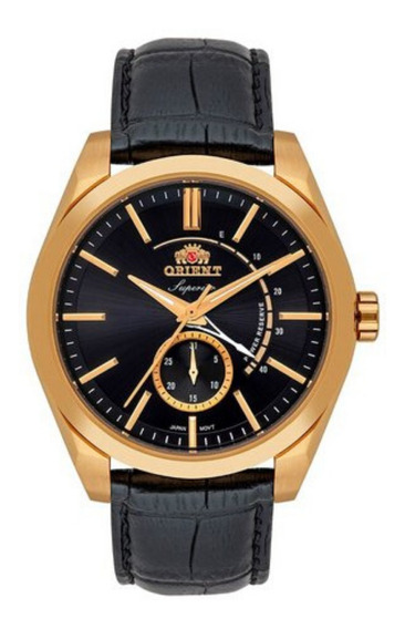 Relógio Masculino Dourado Automático Orient Pulseira Couro
