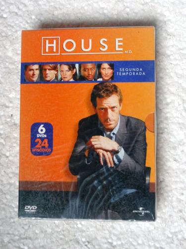 Dvd Box House / Segunda Temporada / 6 Dvds Original Lacrado