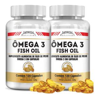 Kit Com 2 Ômega 3 - 120 Softgels - Nitech Nutrition