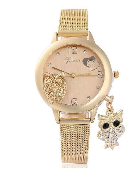 Relógio Feminino Dourado Quartzo Luxo - Vários Modelos