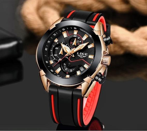 Relógio Masculino Lige 9973 Luxo Casual Esportivo Top Oferta