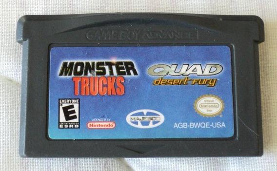 2 In 1 Monster Trucks Quad Desert Fury Para Game Boy Advance