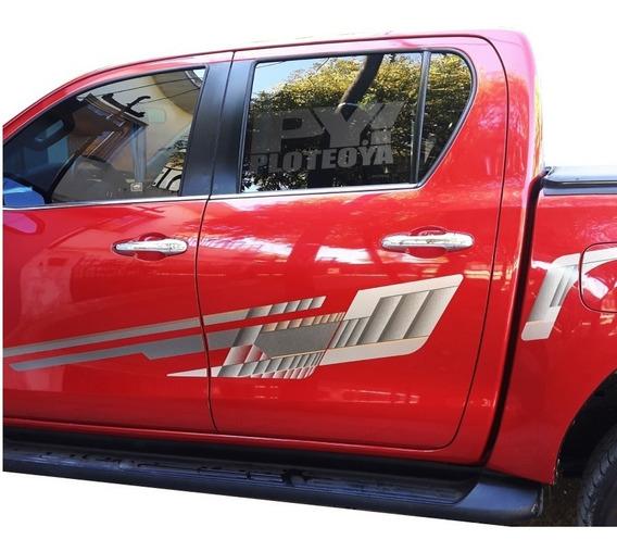 Calco Hilux 2016 2017 2018 2019 1 Lateral - Original Toyota