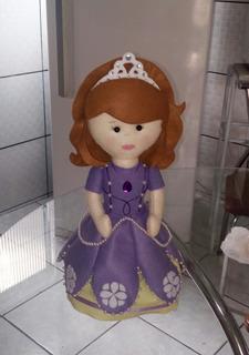 Princesa Sofia Em Feltro Para Decoração De Festa Infantil