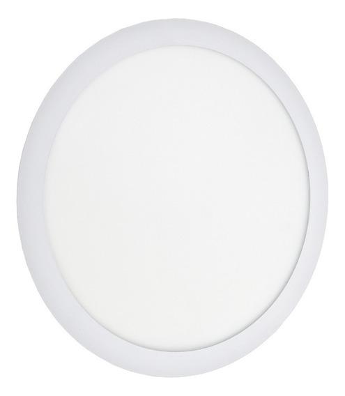 Painel Plafon 32w Led Redondo Embutir Branco Frio