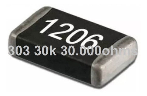 Resistores Smd 1206 1/4w 5% Pacote 100 Unidades