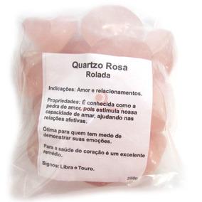 Quartzo Rosa Pedra Rolada Pacote C/ 250 Gramas