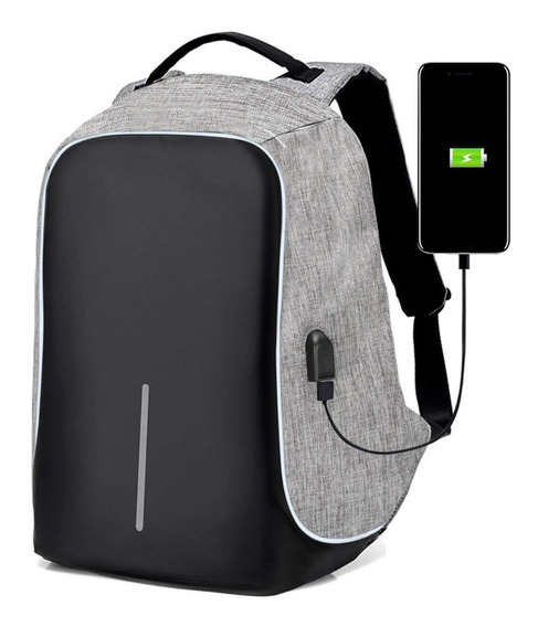 Mochila Antirrobo Smart Bag Carga Usb Notebook Tablet Resist
