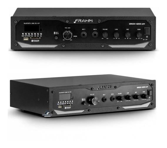 Frahm Receiver Som Ambiente Slim Gr4200 Bluetooth Groov Usb