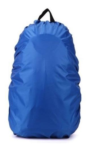 Capa Mochila Mala Impermeável Proteção Chuva Média Azul
