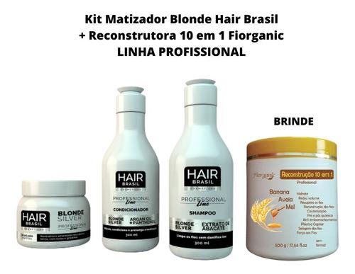 Imagem 1 de 3 de Matizador Blonde Kit Profissional + Brinde Reconstrutora