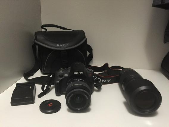 Câmera Sony Alpha 380 , Com Bolsa E + 1 Lente Sony 75-300