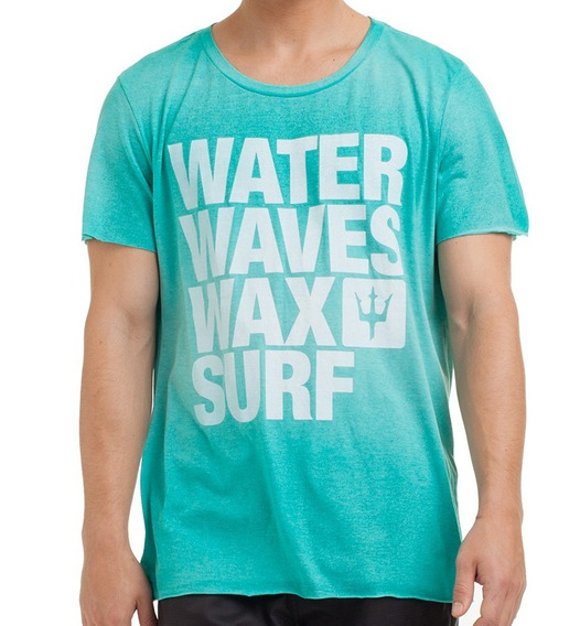 ( M ) Camiseta Osklen Pet Water Waves Wax Surf