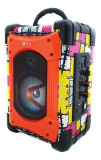 Parlante Portatil Portable Bluetooth Sd Usb Radio Fm 15w Luz