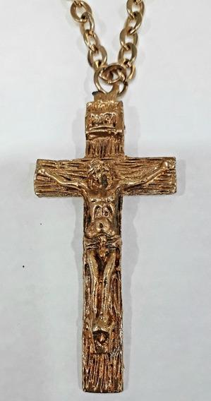 Crucifixo Dourado Com Corrente