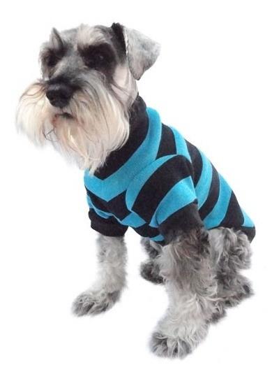 Suéter Punto Azul Perro Rayas Ligero Talla 5 Pet Pals