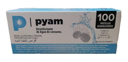 Pastillas Potabilizadoras Agua Pyam X 100 Comprimidos