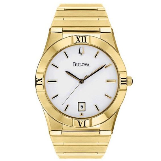Relógio Masculino Analógico Bulova, Caixa De 3,7x3,7 Cm, Pul