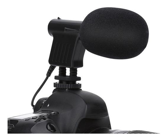 Microfone Direcional Para Câmera Dslr Boya By-vm01 Nfe