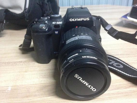 Camera Olympus E-500 Completa Semi Nova Revisada E 2 Lentes