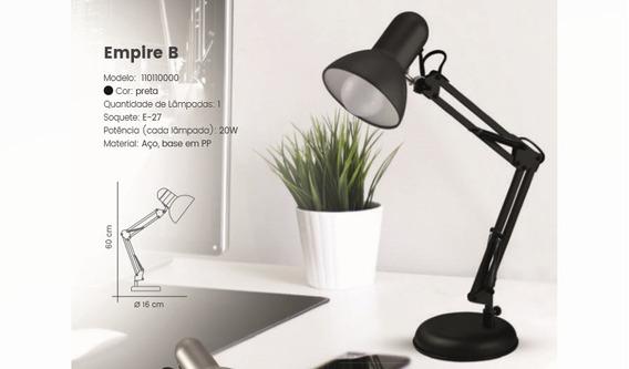 Luminária De Mesa Articulável + Cortesia Lâmpada 9w Led