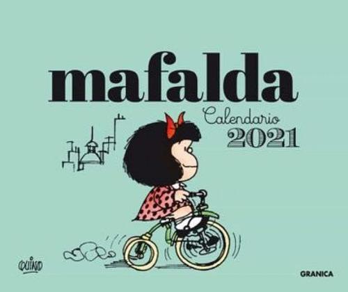 Imagem 1 de 1 de Mafalda 2021 Calendario Escritorio - Verde