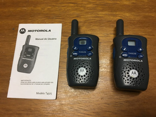 Par De Rádios Motorola Walk Talk Modelo T4525