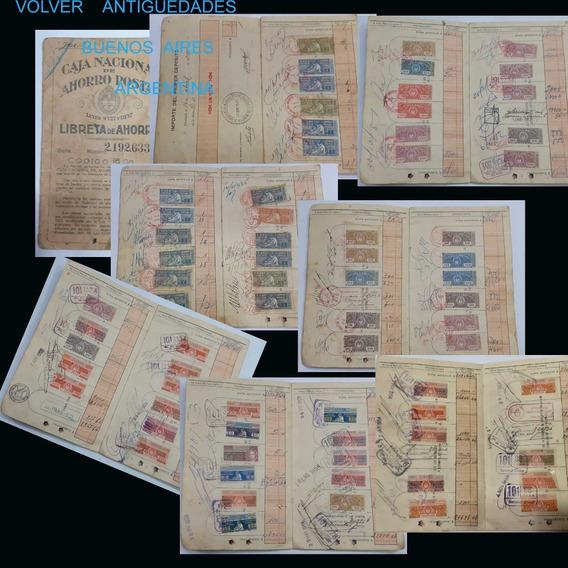 Libreta Caja Nacional Ahorro Postal Con 95 Estampillas