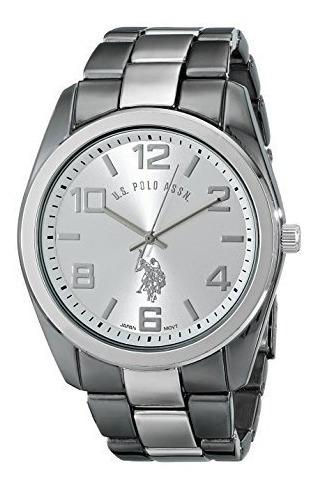 Reloj U.s Polo Ralph Lauren Assn. Gris Metalico