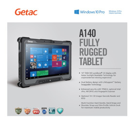 Super Tablet Rugged Getac A140 14 Pol I5 Intel