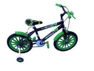 Bicicleta Aro 16 Masc Onix Com Aces E Roda Nilon Cor Verde