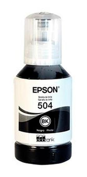 Refil De Tinta Epson T504 Preto L4150/60/6171