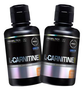 2x L Carnitina 2000 Líquida 400ml Probiótica - Imperdivel