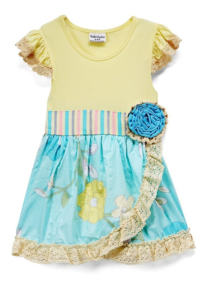 Vestido Nena Importado Puntillas Talle 2-3 Oferta 20% Off