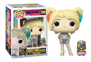 Funko Pop #308 Birds Of Prey Harley Quinn W/beaver Nortoys