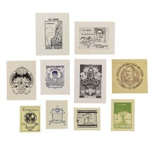 Coleção De Documentos Raros Ex Libris Diversos