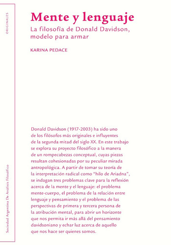 Karina Pedace - Mente Y Lenguaje (editorial Sadaf)