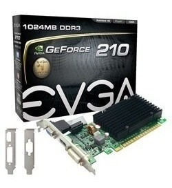 Tarjeta De Video 1gb Evga Gt210 Pci-ex16 Ddr3 Vga Dvi Hdmi