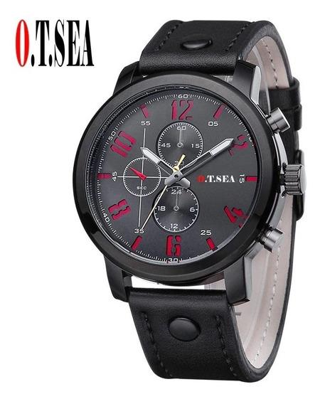 Relógio Masculino O.t.sea Preto Casual Social