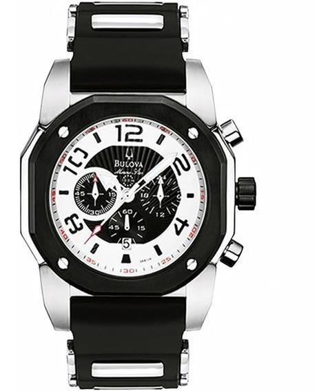 Relógio Masculino Bulova Marine Star Wb31041p Borracha