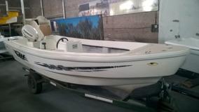 Traker Virgin Marine Usado Casco Pescador Con Evenrude 60 Hp