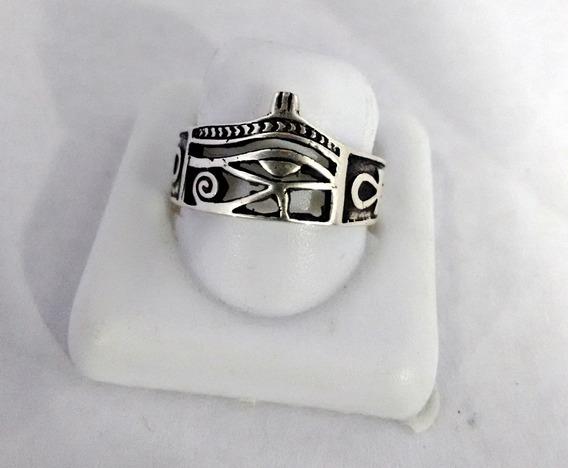 Anel Em Prata 925 - Olho De Horus