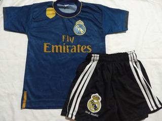 Novo Conjunto Uniforme Infantil Real Madrid Criança